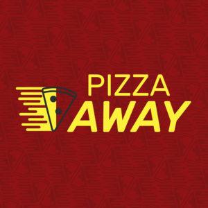 capa para identidade visual pizza away